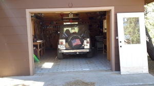 And of couse, a garage with a jeep in it.