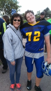 Meet Mason, our favorite 13 year old and defensive end,offensive tackle and fullback for the Warriors.