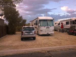 Desert Hot Springs..the morning we left after seeing JoAnne. We headed NE