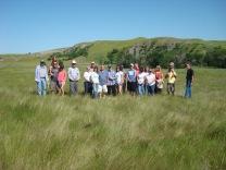 family members visiting Horse creek