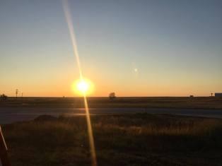 1-sunrise in the Badlands