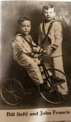 sons, John and Billy (on the bicycle)
